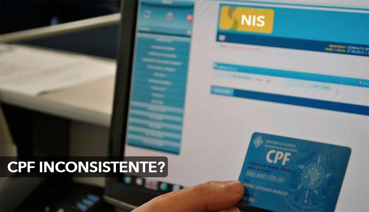 CPF inconsistente no Cadastro NIS