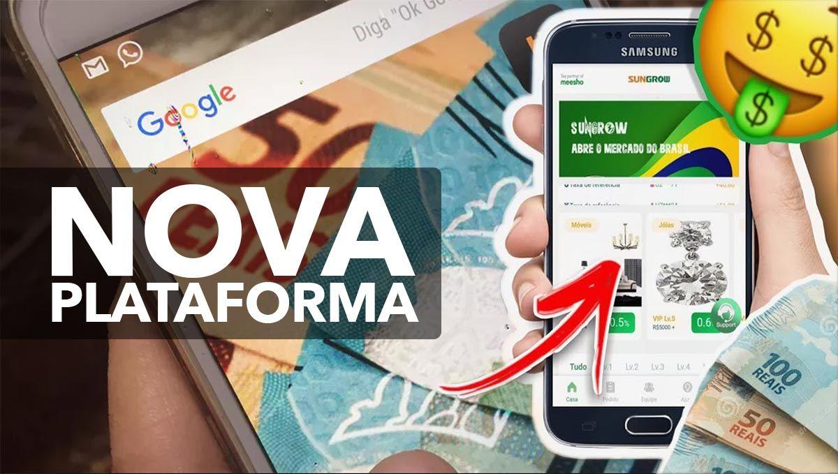 Nova Plataforma Sungrow paga R$40 pelo Cadastro