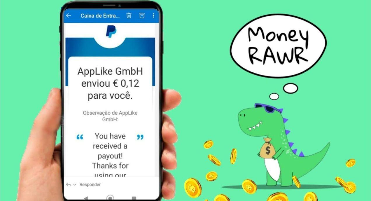 Aplicativo Money RAWR pagando em Euro no PayPal para Jogar pelo Celular