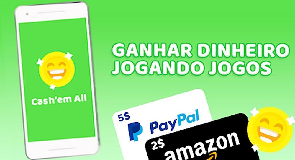 Cash'em All App de Jogos que paga pelo PayPal