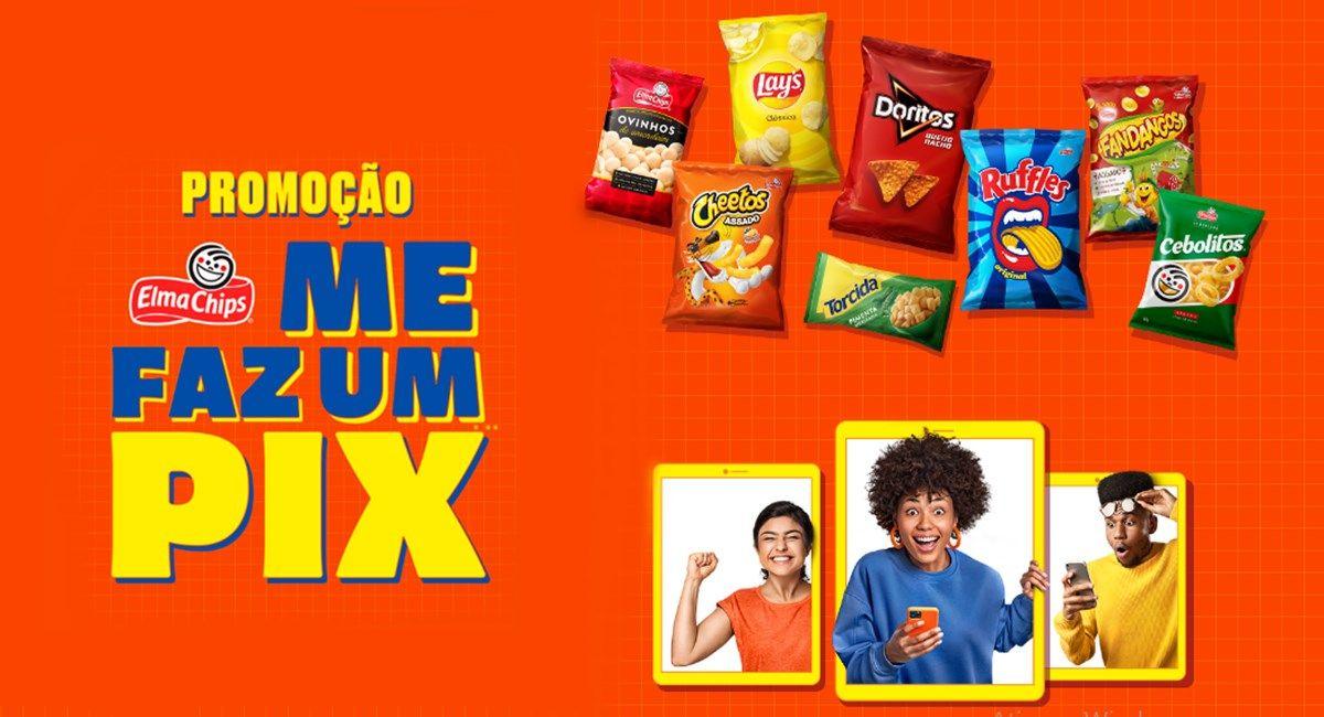 """Promoção Elma Chips """"Me faz um Pix"""""""