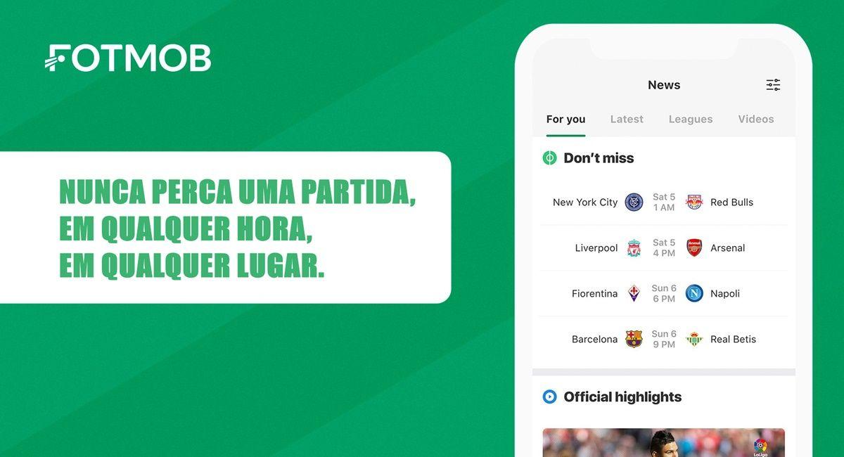 FotMob App: Narração e resultados de mais de 100 ligas de futebol