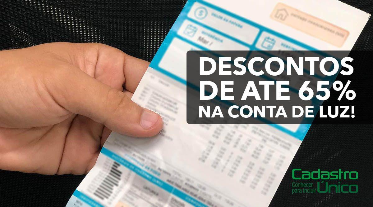 Inclusão de famílias do CadÚnico para receber descontos de até 65%