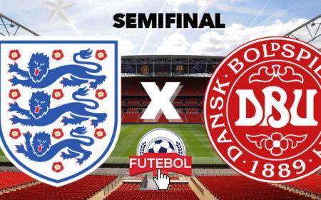 Inglaterra x Dinamarca Online ao Vivo: Onde assistir a semifinal da Eurocopa