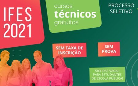 Inscrição Ifes 2021 Proeja: 1.032 vagas para cursos técnicos