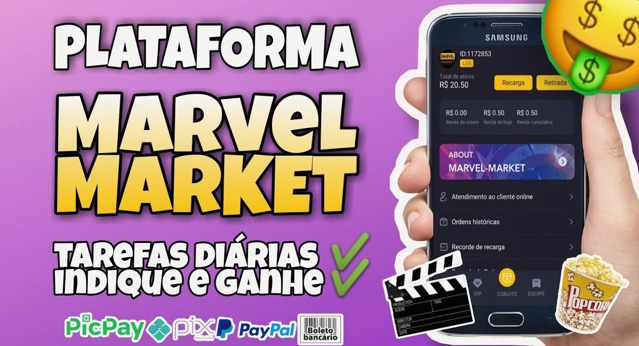 Marvel Market App como funciona