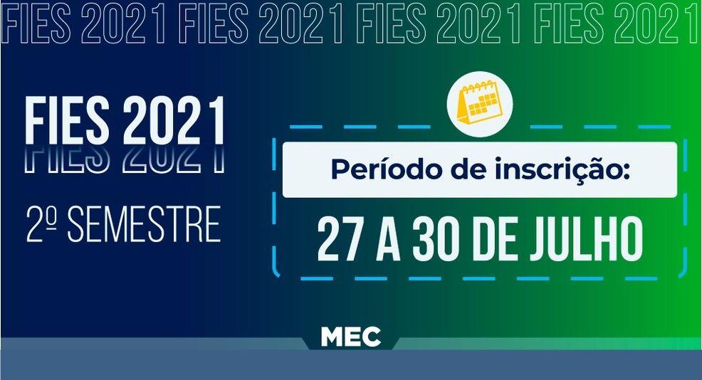 inscrições para o FIES 2021