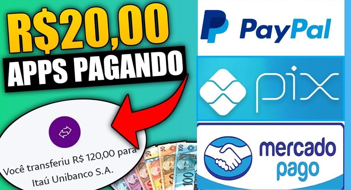 2 Apps pagando R$ 20,00 no Pix