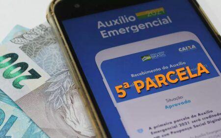 5ª parcela do Auxílio terá 7 pagamentos nesta semana: Veja o calendário e quem recebe