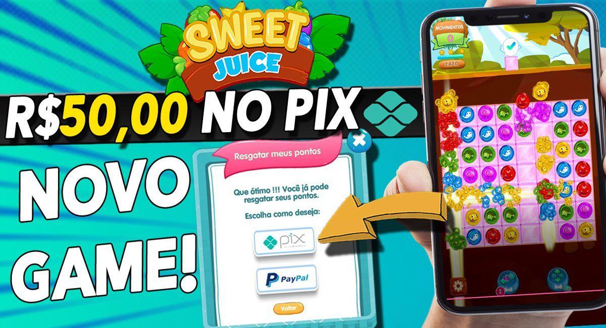 Aplicativo Sweet Candy Juice Melhor app pagando R$50 via Pix