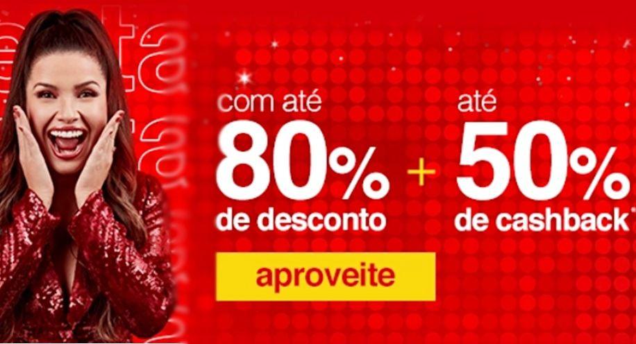 Como comprar com até 80% de descontos nas Lojas Americanas Receba cashback de 50% na promoção válida até o dia 19