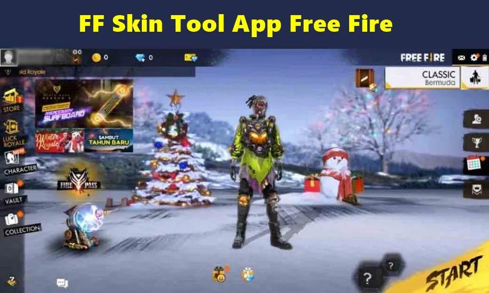 FF Skin Tool App Free Fire Elite Pass Bundles, Emote, skin e mais