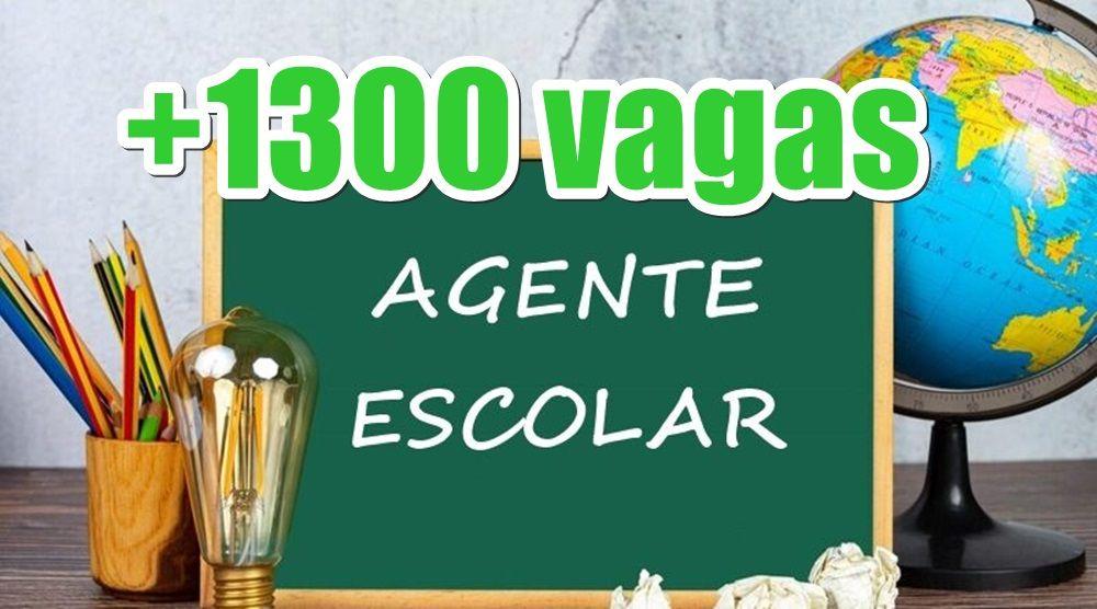 Inscrição Agentes Escolares abre seleção com 1.300 vagas