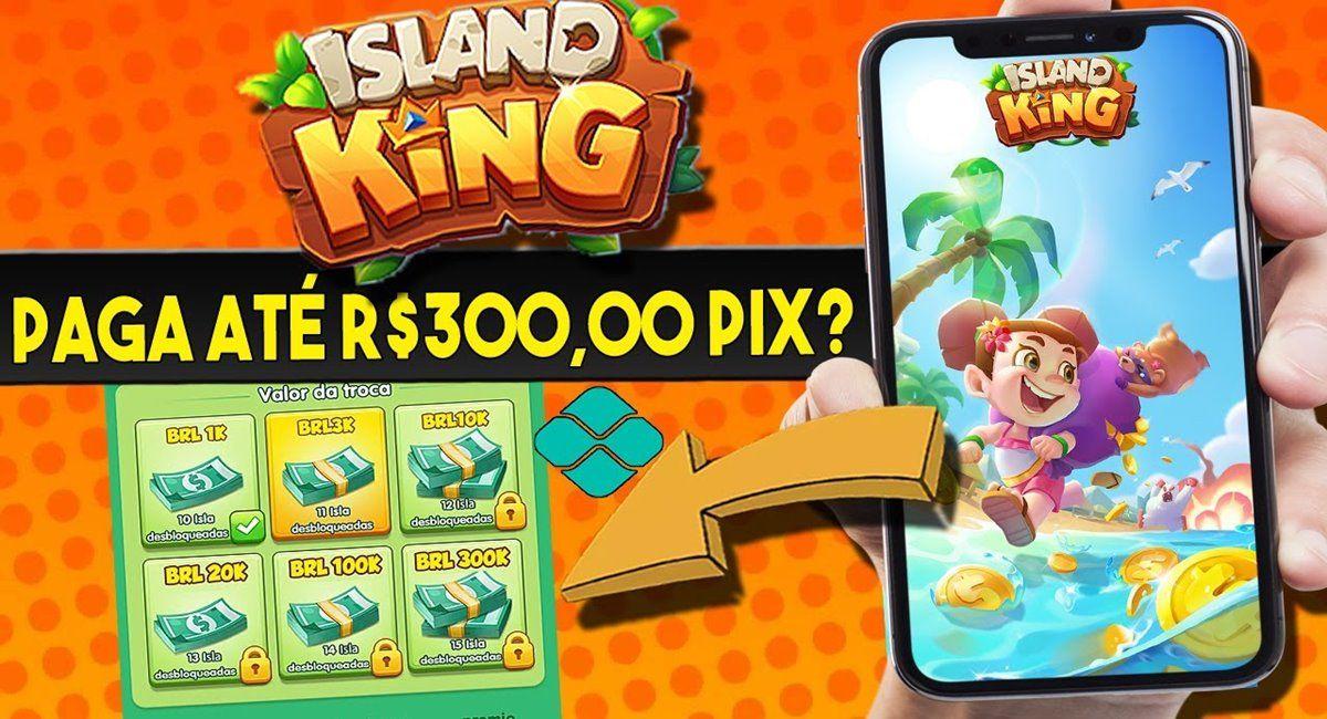 Island King App pagando via Pix. É Seguro Baixar É Confiável Quanto paga