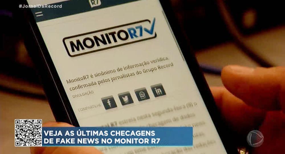 Monitor R7 Plataforma de Checagem de Notícias Veja o que é fake ou fato