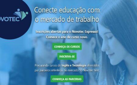 Novotec Cursos Profissionalizantes: Inscrição para centenas de vagas gratuitas em mais de 15 cursos disponíveis