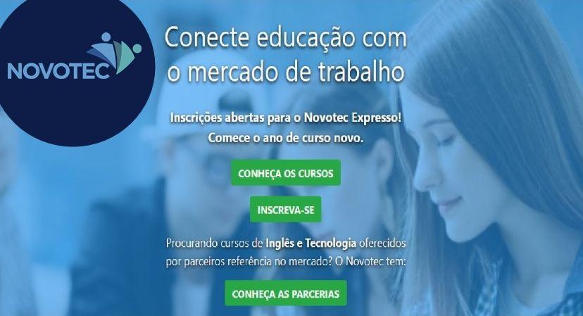 Novotec Cursos Profissionalizantes Inscrição para centenas de vagas gratuitas em mais de 15 cursos disponíveis