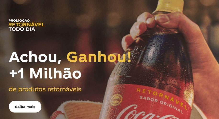 Promoção Retornável Todo Dia Coca-Cola 2021 Cadastro, Prêmios, Comprar e Trocar, Sorteios e Ganhadores