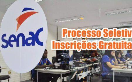 Senac abre processo seletivo com inscrições gratuitas: Salários variam de R$ 1.485 a R$ 3.960 em oito municípios