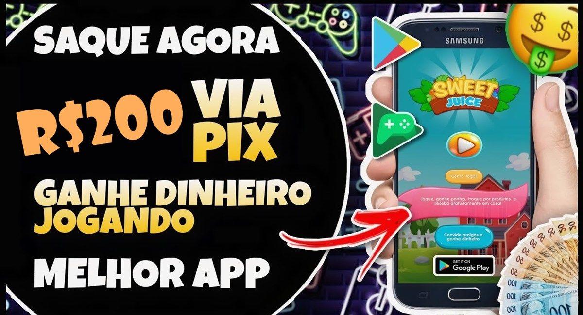 Sweet Candy Juice App Como receber R$ 200 por dia via Pix através do jogo