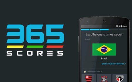 365Scores App: Resultados de futebol e outros esportes com tabelas de classificação ao vivo em tempo real