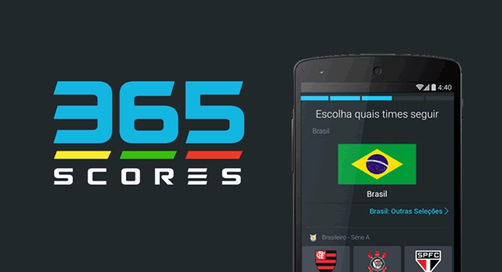 365Scores App Resultados de futebol e outros esportes com tabelas de classificação ao vivo em tempo real