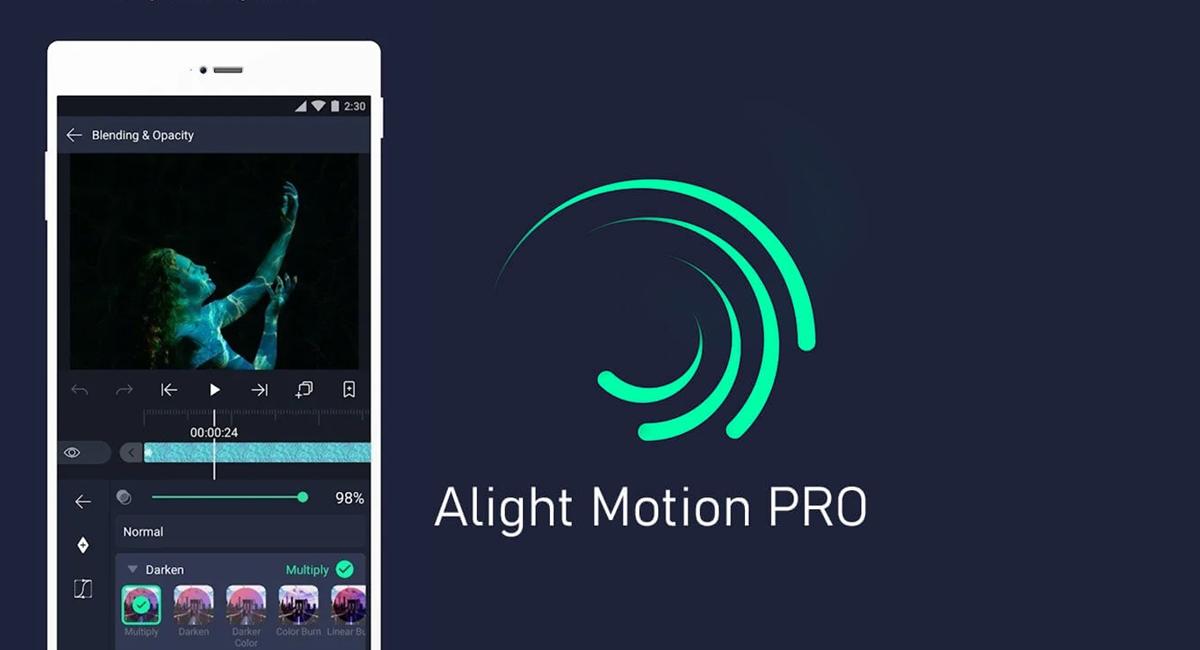 Alight Motion Pro Mod APK 2021 é seguro Editor de Vídeo e Animações para Celular