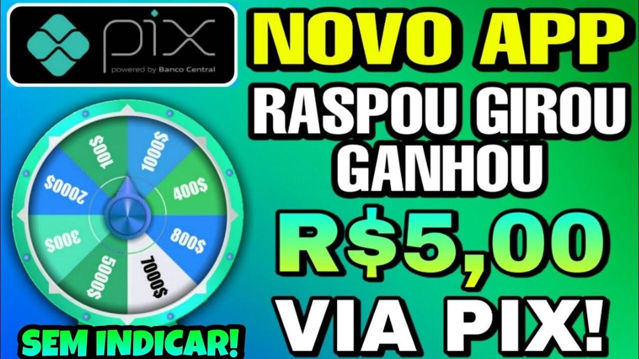 App Brasileiro Girou Ganhou Pagamento via Pix sem precisar investir é real Funciona mesmo