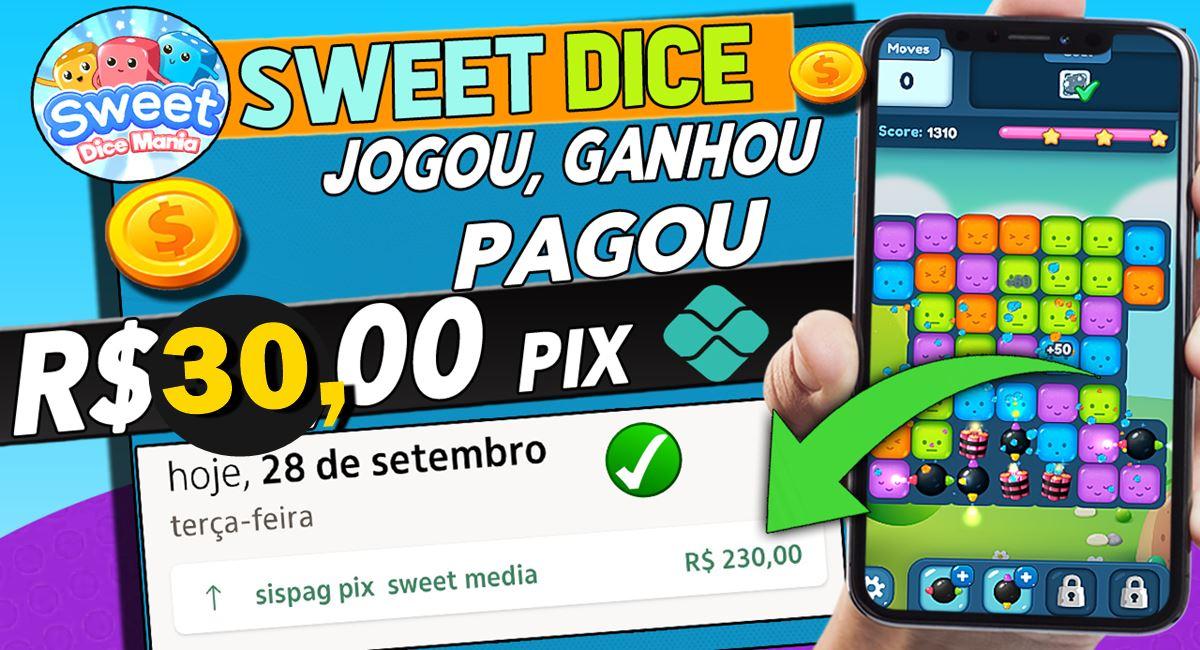 App pagando R$30 por dia via Pix Novo jogo Sweet Dice Mania realmente paga