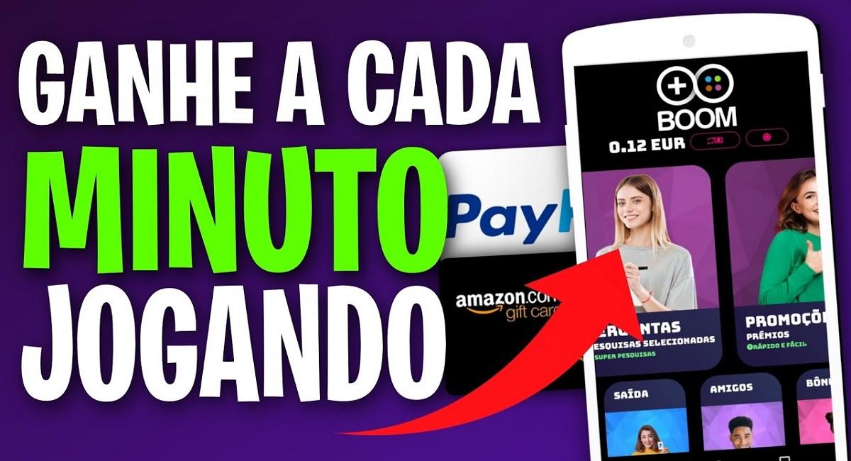 BOOM CashApp é confiável Aplicativo paga para jogar e responder pesquisas