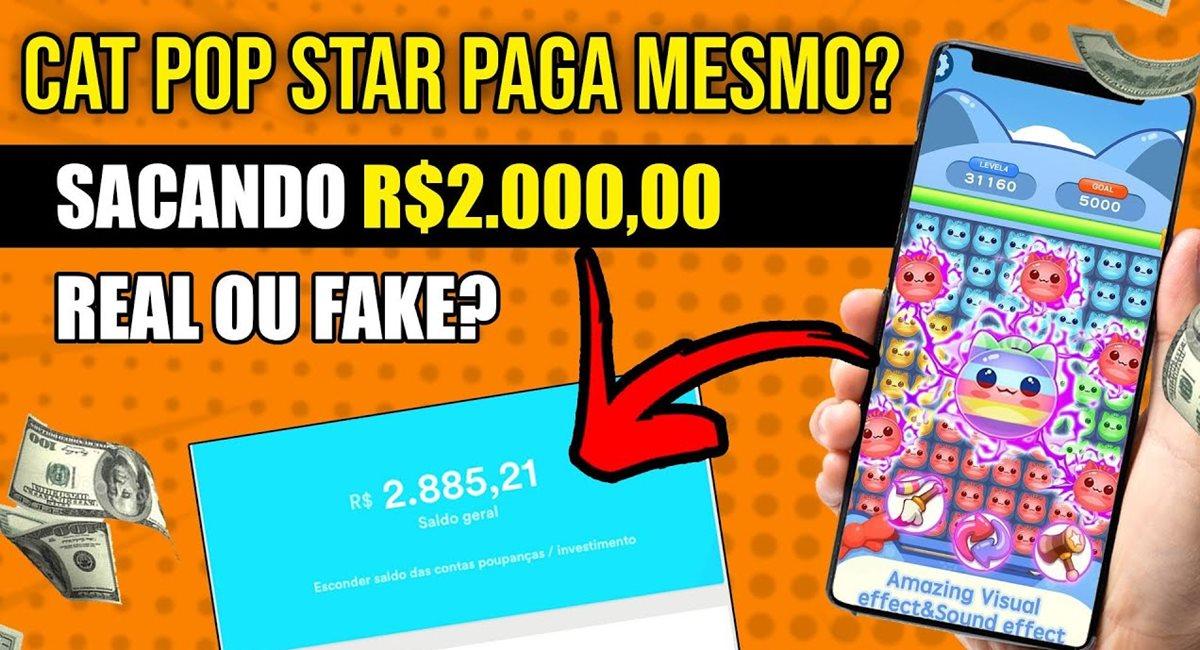Cat Pop Star App paga mesmo Jogo super divertido que promete pagamentos instantâneos