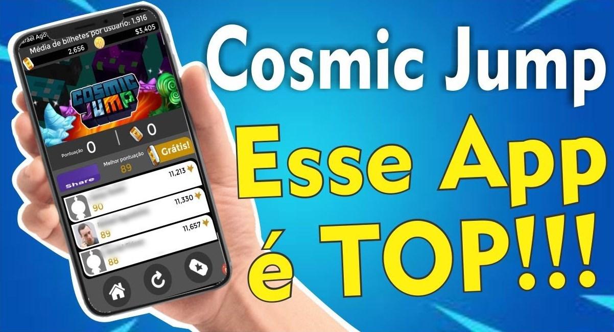Cosmic Jump App Jogo gratuito com pagamento em dólar para jogar poucas horas por dia