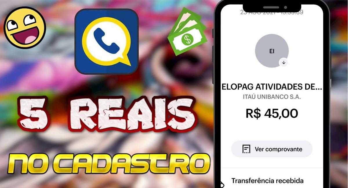 EloPag App o que é Paga mesmo Como sacar Plataforma pagando R$5 reais no cadastro e R$5 reais por indicação