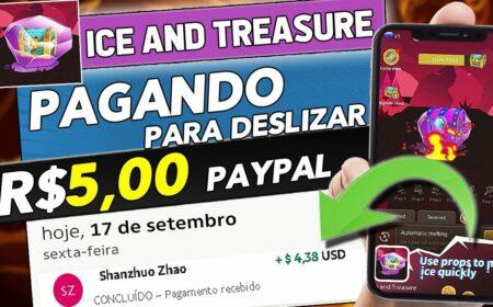 Ice And Treasure App: Novo Jogo pagou R$ 80 via PayPal – Prova de Pagamento