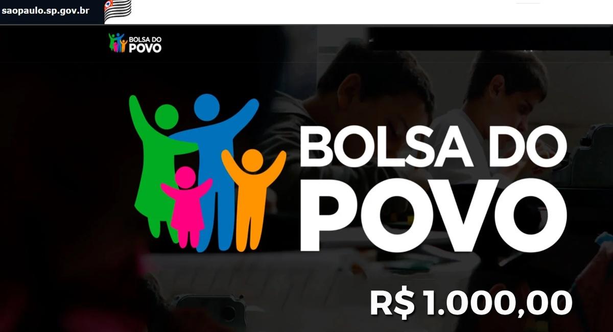 Inscrições Bolsa do Povo Educação vão até o dia 17-09 Pagamentos de R$ 1 mil para alunos da rede estadual