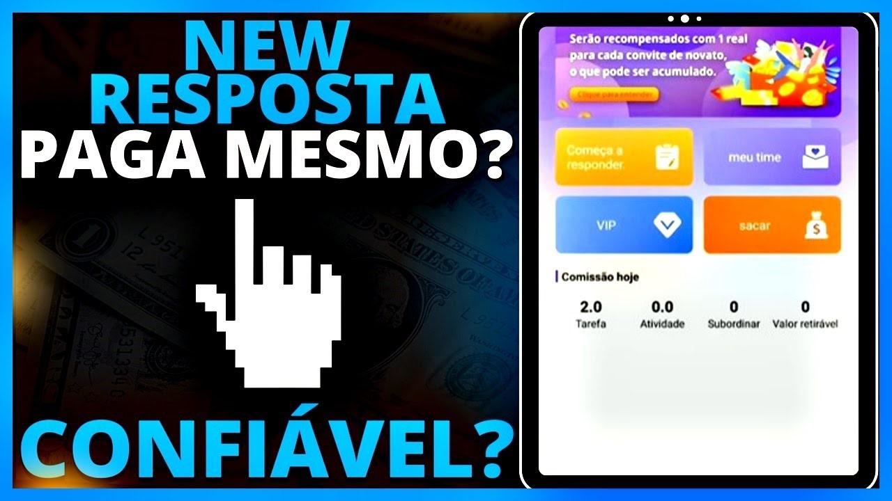 New Resposta é confiável App NewResposta promete pagamentos via Pix, vale a pena investir
