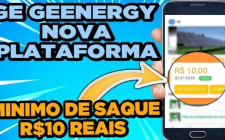 Plataforma GE Geenergy paga mesmo? Valor de R$ 12 no cadastro + R$ 100 sem precisar investir é real?