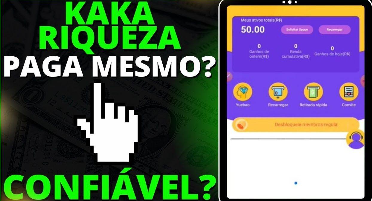 Plataforma Kaká Wealth ou Kaká Riqueza é confiável Pagamento de R$50 no Cadastro + Saque de R$100 via Pix é real Confira