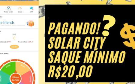 Plataforma Solar City paga mesmo? R$ 5 reais no cadastro + R$ 20 no Pix todo dia sem precisar investir é real?