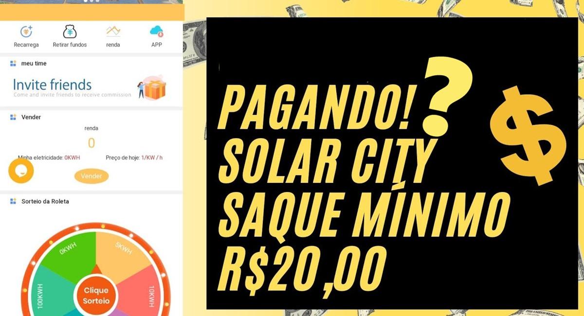 Plataforma Solar City paga mesmo R$ 5 reais no cadastro + R$ 20 no Pix todo dia sem precisar investir é real