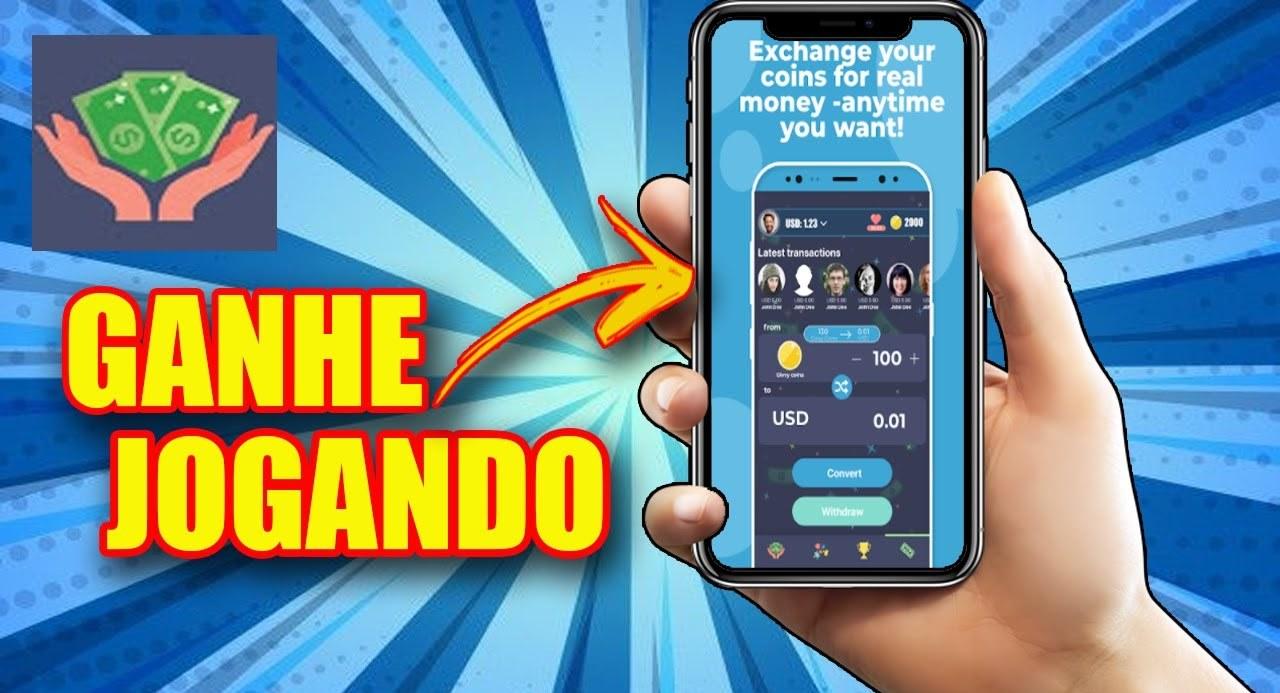 Play and Earn App Jogue e receba moedas e converta-as em dinheiro real - Aplicativo paga de verdade
