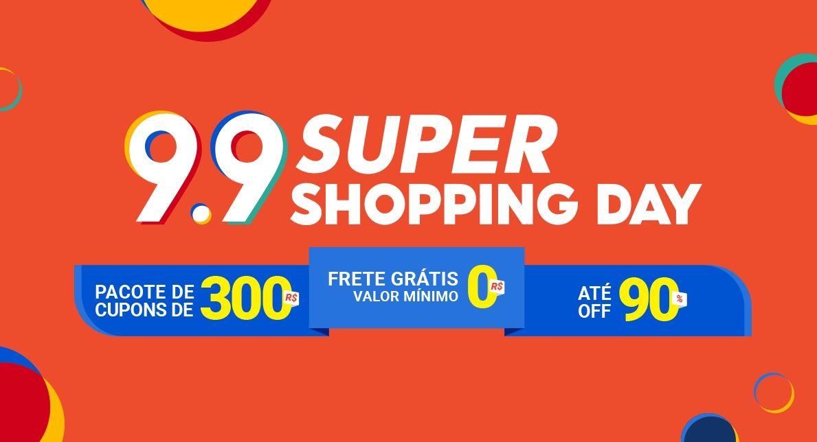 Shopee 9.9 Super Shopping Day R$3 milhões de reais em cupons + ofertas relâmpago imperdíveis com frete grátis - Veja como usar