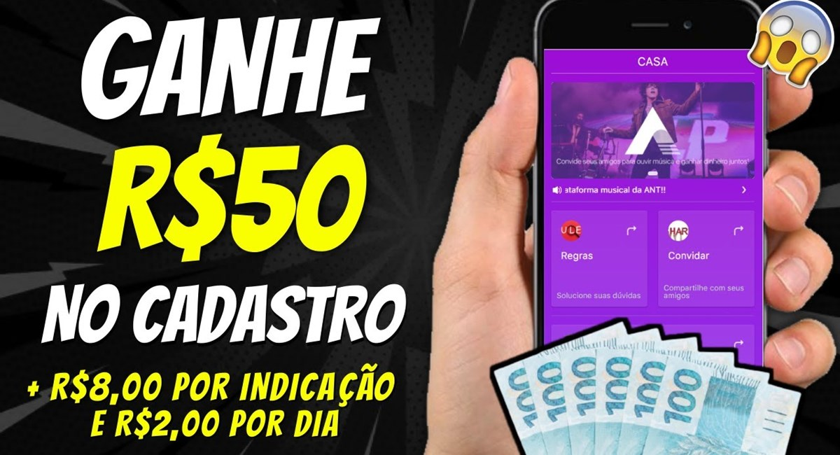 ANTMUSIC App é confiável Plataforma paga R$50 no cadastro + R$2 para curtir músicas - É verdade