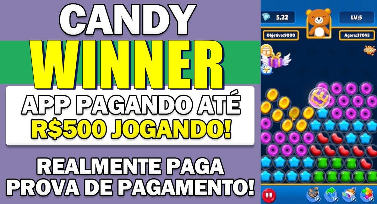 Candy Winner App paga mesmo Prova de pagamento de R$500 para jogar é real