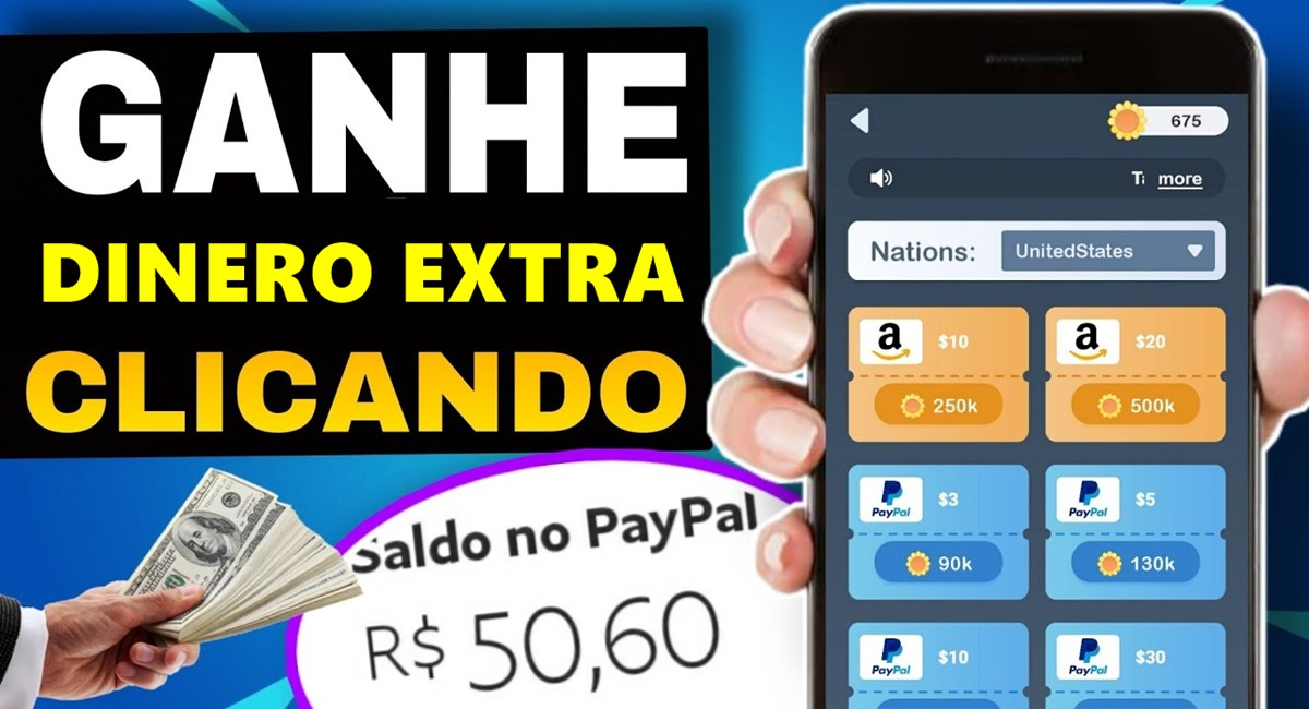 Dinero Extra App Aplicativo paga prêmios para 1º 2º 3º lugar via PayPal
