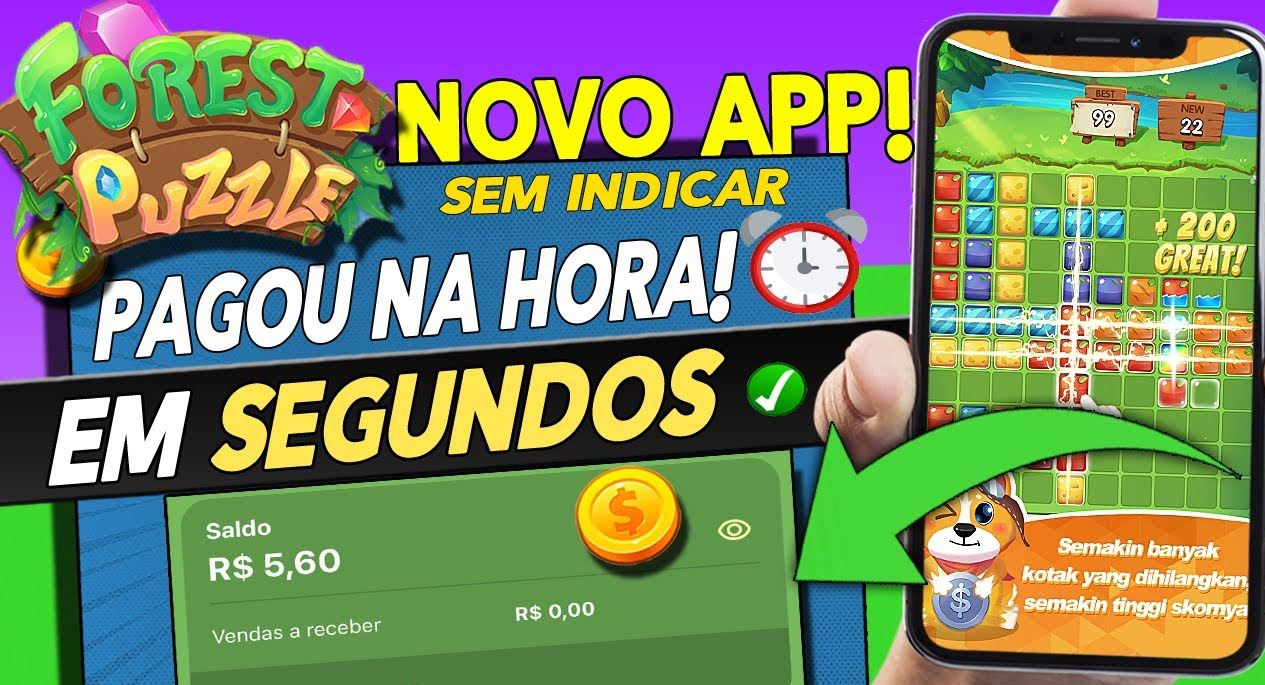 Forest Puzzle App Pagamento na hora via Pix para jogar através desse aplicativo é verdade