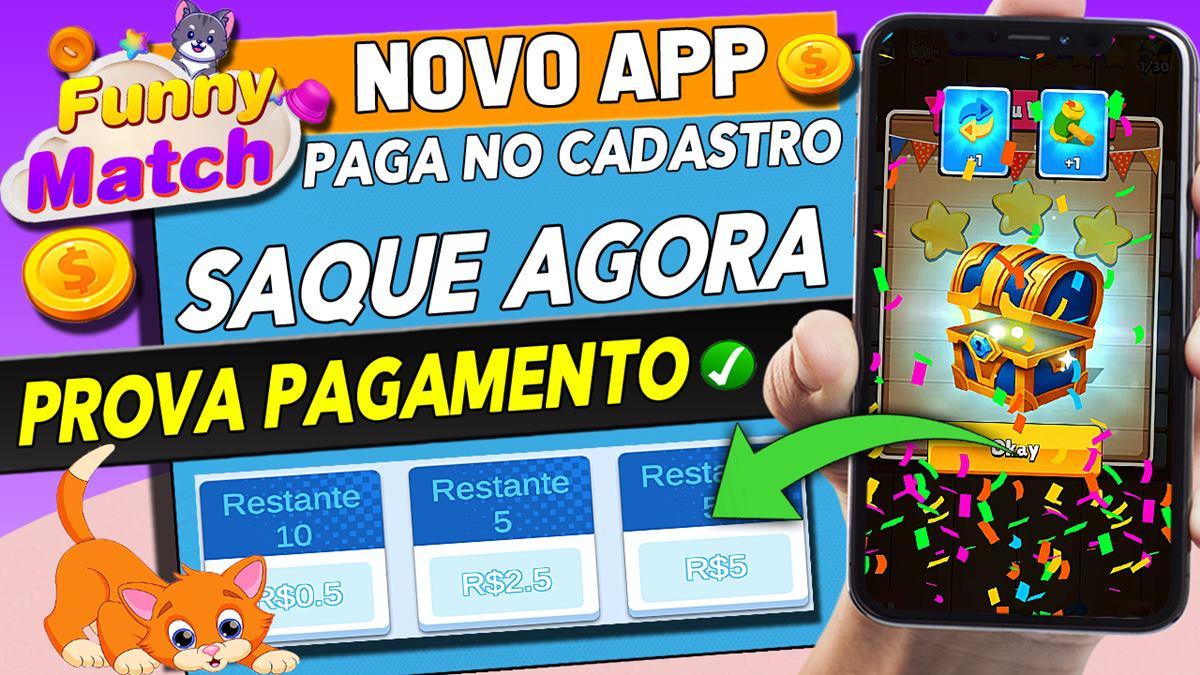 Funny Match App é confiável Jogo paga R$2,50 para superar desafios é real