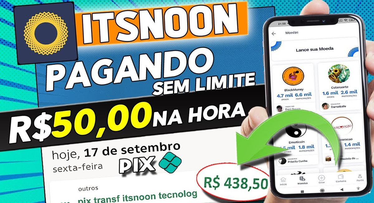 Noon App como funciona Aplicativo paga na hora mesmo R$50 via Pix