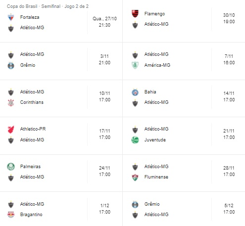 Próximos jogos Atlético-MG imagem tabela via Google