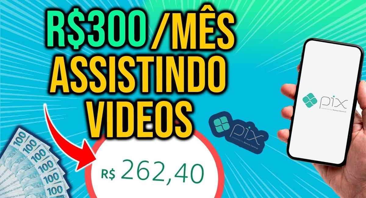 Top Apps para ganhar dinheiro assistindo vídeos Pagamentos via Pix e PayPal